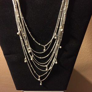 🌹Vera Bradley Multi Strand Silver Toned Necklace